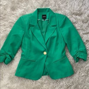 XOXO Green Fitted Blazer Career Business Jacket